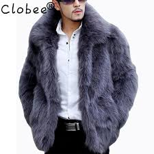 2018 whole mens faux fur coats winter solid color long sleeve stand collar fur coat male 4xl cardigan casual leather jacket fur men 5xl from yujiu