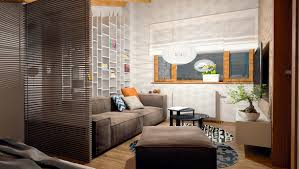 Studio Living Room Furniture Living And Sleeping Areas Exist In Harmony In These Comfortable