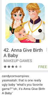 anna give birth a baby makeup games