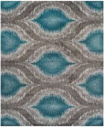 cozy design teal colored area rugs 5