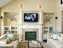 smlf tv mount fireplace stone no studs pull down over