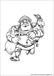 Small Picture Shrek Coloring Pages For Kids