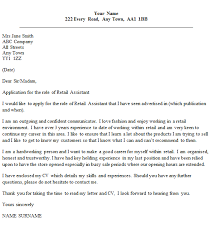 How To Write A Cover Letter For Retail Assistant Retail Assistant