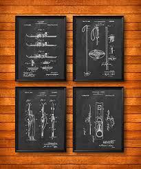 set of 4 ski posters art print or canvas wall art vine ilration home decor ski lodge decor skis skiing ski racing gift s22