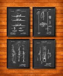 set of 4 ski posters art print or canvas wall art vine ilration home decor ski lodge decor skis skiing ski racing gift s22