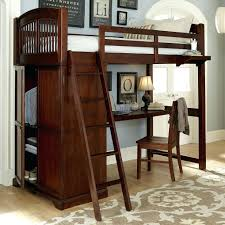 bed with built in desk kids walnut street locker loft with built in desk  childrens bed . bed with built in desk ...