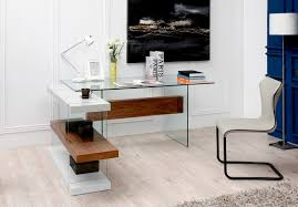 office furniture shelves. Modrest Sven Contemporary White \u0026 Walnut Desk Shelves Office Furniture