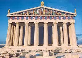 Древняя Греция Обзор архитектуры и искусства Архитектура и  Парфенон реконструкция