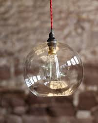 clear glass globe pendant light. Clear Glass Globe Ceiling Pendant Light, Hereford Retro \u0026 Contemporary Design Light