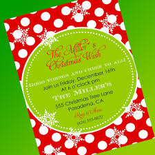 christmas invitation bi fold card design polka dot background christmas invitations elegant and fancy christmas party invitation card colorful motifs and colorful font