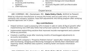Data Entry Resume Template Adorable Data Entry Job Resume Examples Samples Description Sample Cv Clerk