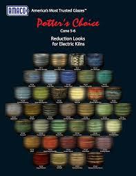 Deco Glaze Colour Chart Pc Potters Choice High Fire Glazes Amaco