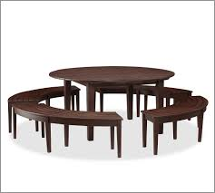 Curved dining bench Round Table Homedit Chesapeake Curved Picnic Bench