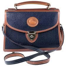 dooney bourke all weather leather shoulder handbag satchel vintage