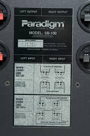 passive sub center home theater axiom message boards the sb 100 was a passive sub by paradigm long ago i found this picture online a while back the wiring diagram on mine can no longer be