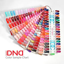 Dnd Gel Color Chart Dnd Daisy Gel Polish Color Sample Chart Palette Display Choose Any One