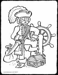 Piraten Kleurprenten Kiddicolour