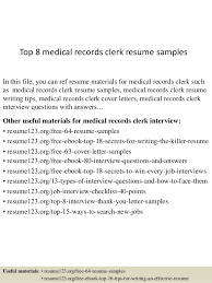 records clerk resumes top 8 medical records clerk resume samples 1 638 jpg cb 1430027522