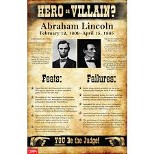 Presidency Chart Abraham Lincoln 16th Answers Abraham Lincoln Hero Or Villain Mini Poster