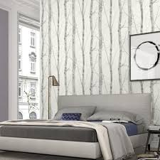 Erismann Wallpapers Paradisio White Grey Birch Tree Wallpaper