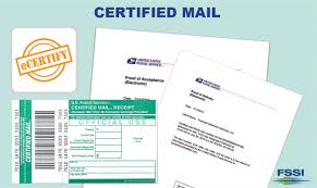 certified mail