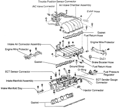 repair guides engine mechanical components intake manifold exploded view of the upper and lower intake manifolds 3 4l 5vz fe engine