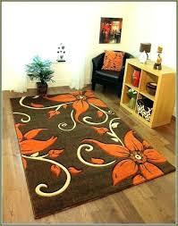 orange bathroom rugs burnt stylish area rug very nice fl brown with flowers ideas walls b