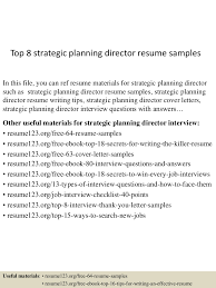 Top8strategicplanningdirectorresumesamples 150514010946 Lva1 App6892 Thumbnail 4 Jpg Cb 1431565834