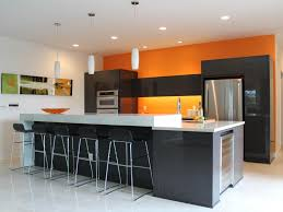 contemporary kitchen colors. Interesting Colors Orange And Black Contemporary Kitchen To Colors