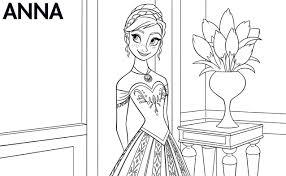 Disneys Frozen Anna Coloring Pages Coloringsuitecom