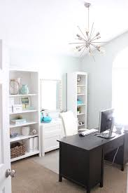 new sputnik chandelier in home office