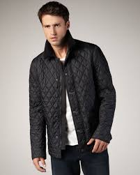 Burberry brit Classic Quilted Jacket in Black for Men | Lyst & Gallery Adamdwight.com