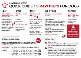 Raw Feeding Chart For Puppies Free Downloads Rawfeeding Rebels