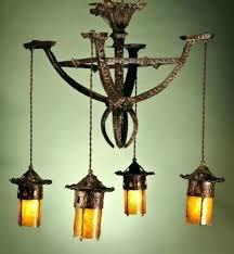 arts and crafts chandelier hammered bronze light fixtures outdoor
