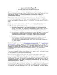 Demonstration Speech Outline Demonstrative Speech