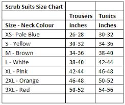 Scrubs Size Chart Lightweight Unisex Scrub Top