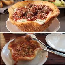 olive garden meatball pizza bowl aka mini meatball pizza soup in a rock