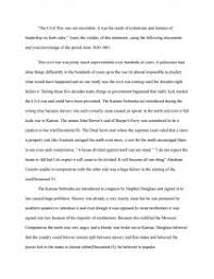 Civil War Essay Civil War Essay