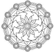 Mandalas Coloring Online Ps25 Free Printable Easy Mandala Coloring