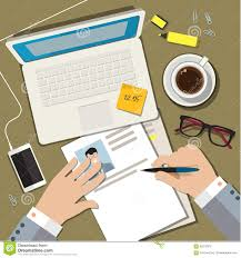 Writing A Business Cv Resume Concept Stock Vector Image 65272916
