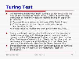 search and decoding in speech recognition ppt  turing test