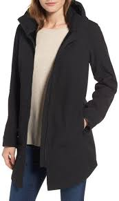 Nordstrom Rack Petite Coats Stand Collar Raincoat with Detachable Hood Regular Petite Products 55