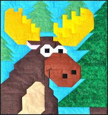 Moose Quilt Pattern CQ-026 (advanced beginner, lap and throw) & Moose Quilt Pattern CQ-026 Adamdwight.com
