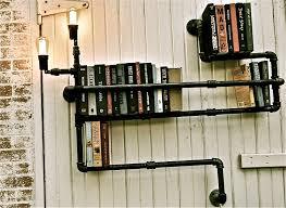 industrial pipe lighting. Bookshelf Industrial Pipe Lighting Level 3 By Stellableudesigns, $249.00 L