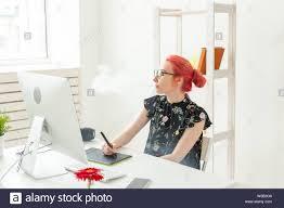 Designer Vape Graphic Designer Concept Female Graphic Designer Working