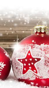 Red Christmas balls, snow, winter, New ...