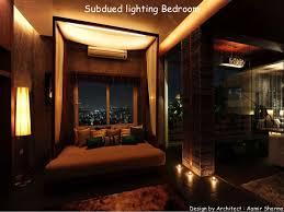 subdued lighting. Subdued Lighting. Wonderful Lighting Bedroom Design By Architect Aamir Sharma For H S