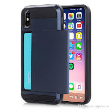 Business Card Holder Case For Apple Iphone X 8 6 6s 7 Plus Samsung