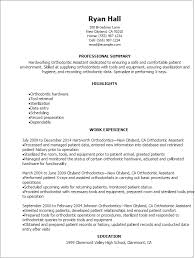 Resume Templates: Orthodontic Assistant Resume