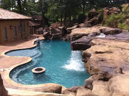 backyard pool with slides. Custom Pool \u0026 Faux Rock Grotto 40\u0027 Slide Backyard With Slides